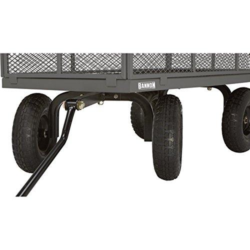 Bannon Industrial-Grade Steel Wagon - 1200-Lb. Capacity, 13in. Tires