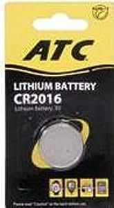 Botón ATC litio CR2016 célula de la batería (Pack de 5)