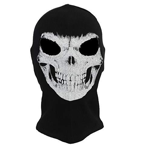 Girl Face Mask Halloween (Halloween Mask 3D Skeleton Mask Scary Skull Balaclava Ghost Skull Cosplay Costume Halloween Party Full Face Mask)
