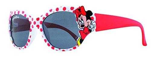 Disney Minnie Mouse - Lunettes de soleil tachetées rouges et blanches