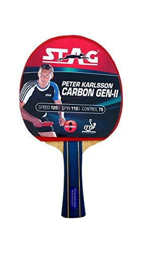 StagピーターカールソンCarbon Table Tennis Racket withデラックスラケットケース B07BHGNFQ5