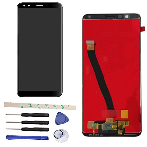 General 100  Tested Well Lcd Display Touch Screen Digitizer Assembly Replacement For Huawei Honor 7X Bnd Tl10 Bnd Al10 Bnd L21 Bnd L22 Bnd L24  With Honor Logo   Black
