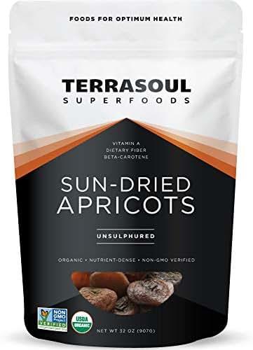 Dried Fruit & Raisins: Terrasoul Sun-Dried Apricots