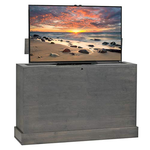 - Azura 360 Degree Swivel in Grey Finish TV Lift Cabinet
