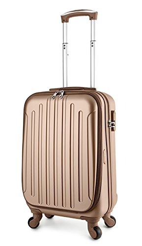 - TravelCross Victoria 22'' Carry On Lightweight Hardshell Spinner Luggage - Champagne