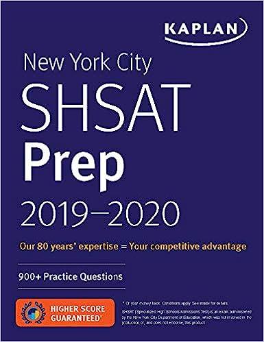 New York City SHSAT Prep 2019 2020 900 Practice Questions