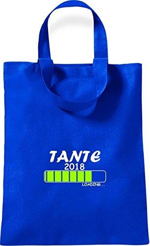 ShirtInStyle kleine Bolsa de algodón TANTE 2018 Cargando Nacimiento Regalo - Rojo, 26 cm x 32,5 cm Royal