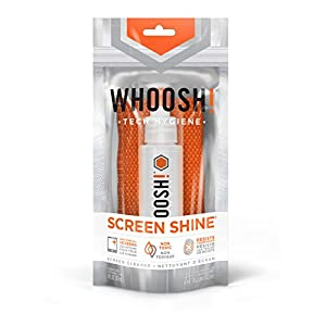 WHOOSH! Award-Winning Screen Cleaner – Safe for all screens – Smartphones, iPads, Eyeglasses, Touchscreen, LED, LCD & TVs – Include 1 oz Sprayer + Premium Antimicrobial W!cloth