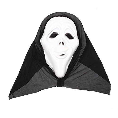 TOPmountain Halloween Horror Scary Costume Bloody Face Mask Full Head Fancy Dress Make Up (Halloween Half Skull Face Makeup)
