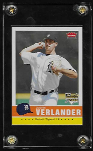 2006 Fleer Tradition Baseball Rookie Card #173 Justin Verlander Near Mint/Mint - Detroit Tigers - Stored in a Protective Plastic Display Case!! ()