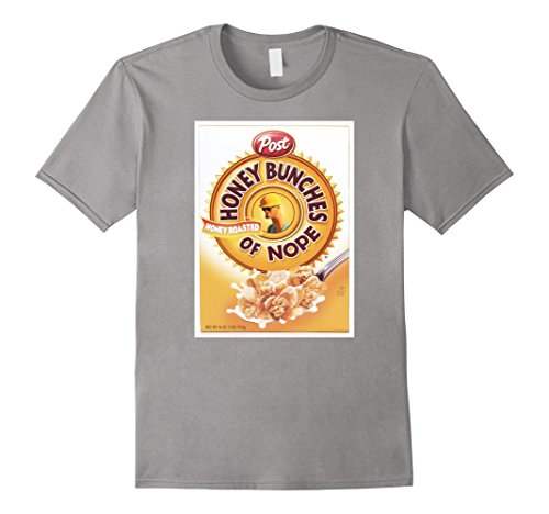 of Nope Cereal Funny Graphic T- Shirt Large Slate ()