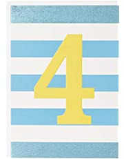 Think of Me TOMINK75 Age 4 Boy Birthday Card, 120mm x 170mm