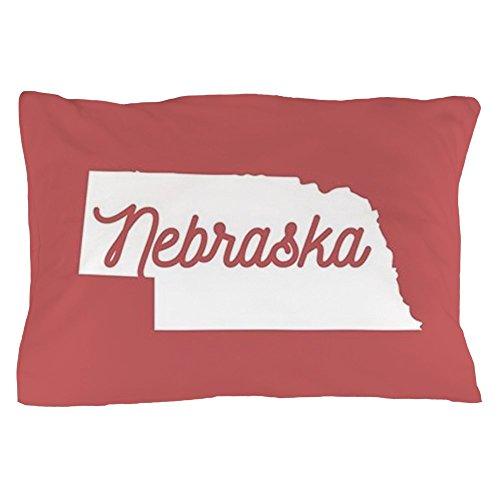 CafePress Nebraska Standard Size Pillow Case, 20