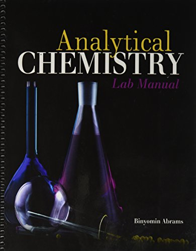 Analytical General Chemistry Lab Manual