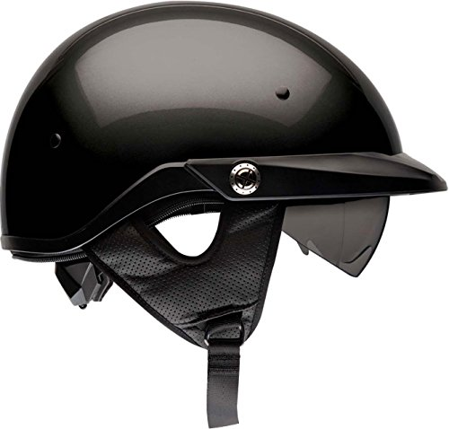 Bell Pit Boss Open-Face Motorcycle Helmet (Solid Black, Large)
