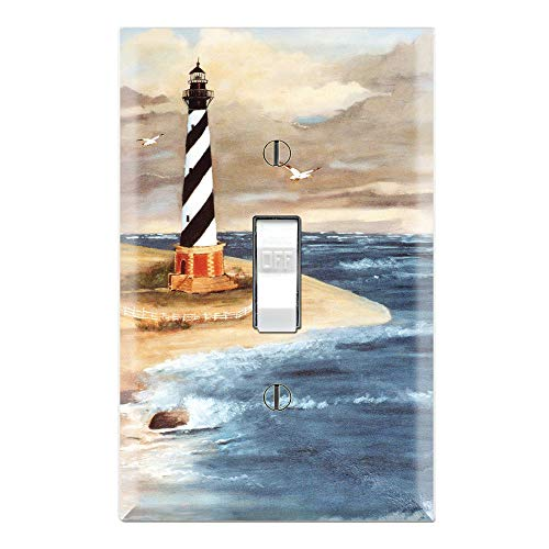 - Graphics Wallplates - Cape Hatteras Lighthouse - Single Toggle Wall Plate Cover