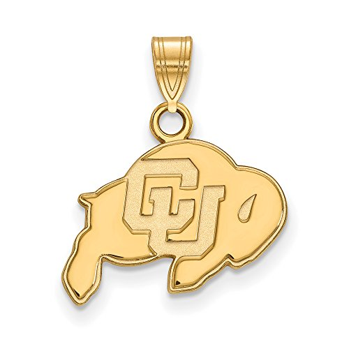 Colorado Small (1/2 Inch) Pendant (14k Yellow Gold) by LogoArt