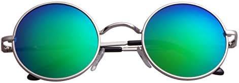 Aoron Lennon Style Vintage Round Sunglasses with Polarized Lenses