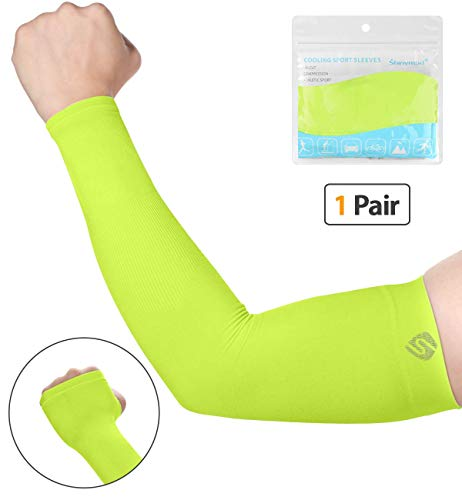 Outdoor Arm Warmer Half Finger Sleeves Long Gloves Sun Uv Protection Hand Protector Cover Arm Sleeves Ice Silk Sunscreen Sleeves Selling Well All Over The World Apparel Accessories Men's Arm Warmers
