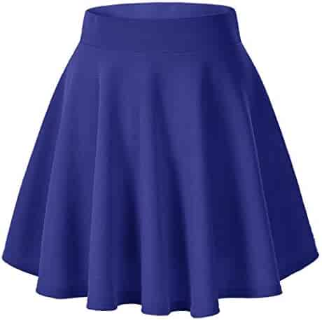 bdd7c0dbdb7 MISYAA Pleated Mini Skrits Womens Solid Skater Skirt High Waisted Summer Sexy  Skirts Cocktail Party Skirt