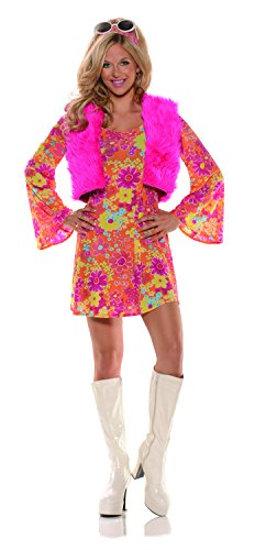 Pretty In Pink Dress Costumes (Women's Pretty in Pink 70's Costume Small)