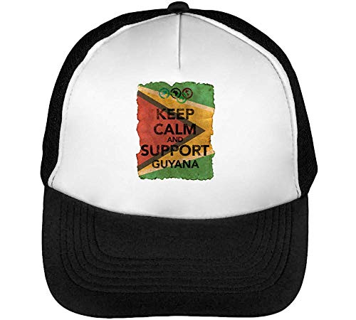 Negro Beisbol Flag Calm Keep Blanco Snapback Gorras Hombre Guyana Support Vintage Background qOpfxCwzqv