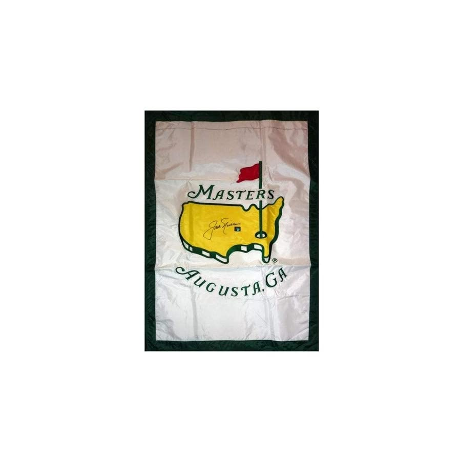 Jack Nicklaus Autographed Signed Auto Masters Large House Flag Nicklaus Holo Certified Authentic