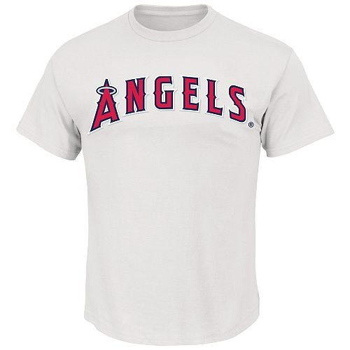 (Blank Back Youth Large White Los Angeles Angels MLB Licensed Cotton Crewneck Replica Jersey T-Shirt)
