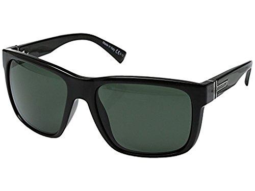 glasses Black Gloss/Vintage Grey & Carekit Bundle (Von Zipper Black Gloss)
