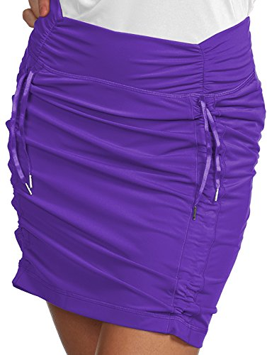 Antigua Ladies Cinch Skort Mulberry 8-10 Medium ()