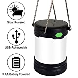 Zoojee Studio 1 Pack/2 Pack/4 Pack LED Camping Lantern-Solar/USB Rechargeable Camping Lamp-Battery Powered Camping Tent Lights-Hurricane Lantern, Emergency lamp, Outage Lantern