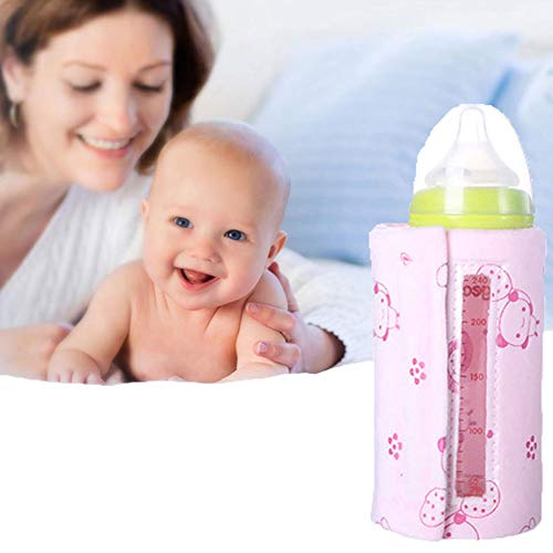 WDXIN Calentadores De Biberones para Bebes USB Botella Manga Aislante Invierno Temperatura Constante Calefacción Portátil...