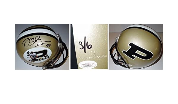 Amazon.com  Mike Alstott Autographed Signed Purdue Boilermakers Full Size  Limited Helmet  3 6 with JSA Authenticity  Sports Collectibles be1f75539