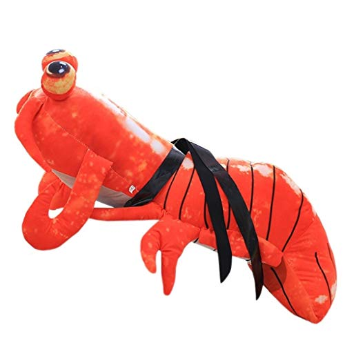 - Plush Pillows Phi Phi Shrimp Dolls Lobster Plush Toys Anime Pillow Dolls Children's Room Animal Toy Pillows Boys and Girls Birthday Gifts Home Decorations (Color : Red, Size : 50cm)