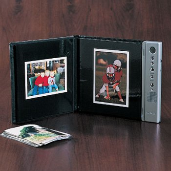 Brookstone Talking Photo Album Various Sized Photos by Brookstone