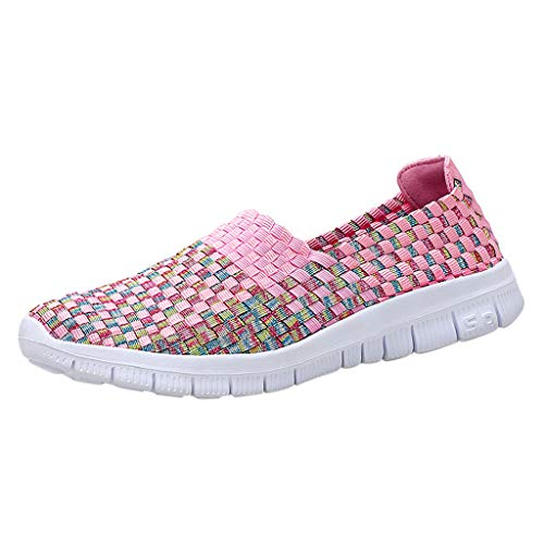 (Dream_mimi Womens Sneakers Ultra Lightweight Breathable Mesh Athletic Walking Running Shoes Pink)