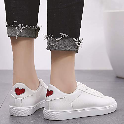 Summer Comfort Flat Heel Pink White ZHZNVX Toe Sneakers Minimalism PU Shoes Round Women's White Silver Blue Red White amp; Polyurethane Spring 0Pq5vPx