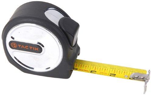 Industrial 26' Tool Box - Tactix 235375 High Tape Measure, 26-Feet by 1-1/16-Inch, Black/Orange