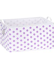 Sea Team 16.5 x 11.8 x 9.8 inches Square Canvas Fabric Storage Bins Shelves Storage Baskets Organizers for Nursery & Kid's Room
