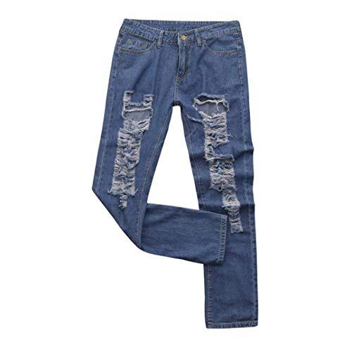 Ropa Agujero Boyfriend Adelina Acogedores Mujeres Las Mezclilla Blau Holgados De Pantalones Alta Cintura Vaqueros Rasgado E8q8WafUA0
