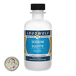Sodium Sulfite (Na2SO3) 1/4 Pound by weight in Sturdy HDPE plastic bottle 99.9% Ultra Pure from USA