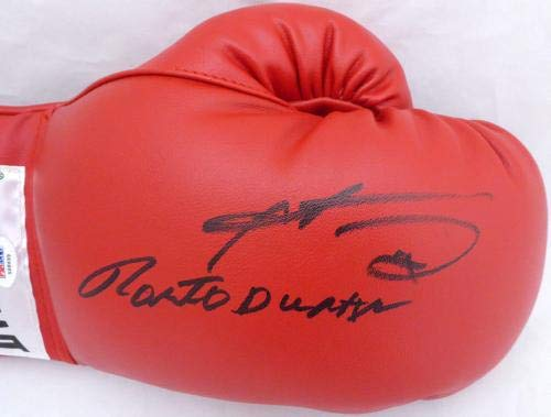 Sugar Ray Leonard & Roberto Duran Autographed Everlast Boxing Glove X68699 PSA/DNA Certified Autographed Boxing Gloves