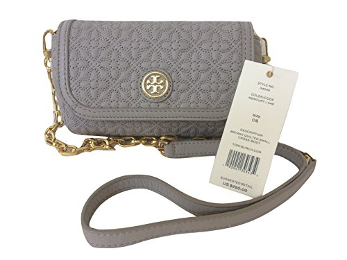 Tory Burch Bryant Quilted Leather Small Cross Body  Mercury