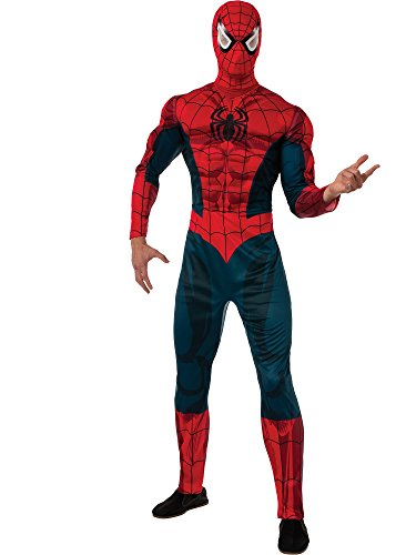 (Rubie's Men's Marvel Universe Adult Deluxe Spider-man Costume, Multi,)