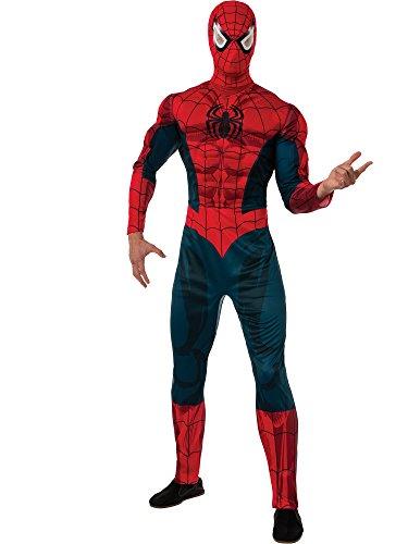 Rubie's Men's Marvel Universe Adult Deluxe Spider-man Costume, Multi, Standard