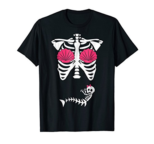 Cute Pregnant Mermaid baby Skeleton Halloween