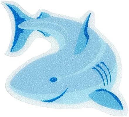 """Blue SlipX Solutions Adhesive Tub Treads 4/"""" x 4/"""" Shark Tub Tattoos"""