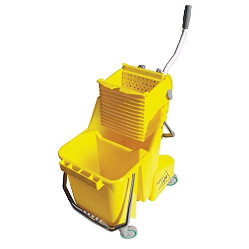 Unger COMBY Yellow 8 Gallon Bucket with Side Press System by Unger