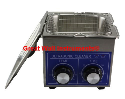 1.3L Professional Stainless Steel Ultrasonic Cleaner Cleaning machine Heating Timing adjustable Commercial Grade 110V/220V