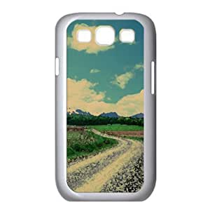 Road Landscape 3 Watercolor style Cover Samsung Galaxy S3 I9300 Case (Landscape Watercolor style Cover Samsung Galaxy S3 I9300 Case)